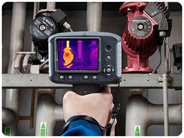 Thermal cameras allow hot spots to be quickly and easily visualized